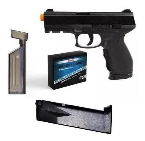 Pistola Airsoft Spring Cybergun PT24/7 KWC 6mm + Speed Loader + Magazine Extra