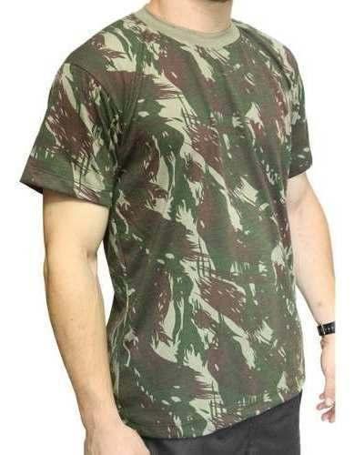 Camiseta Camuflada EB Manga Curta Dacs Tactical
