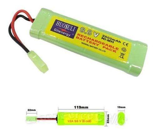Bateria Airsoft Huosuli 9.6v Nimh 2800 Mah