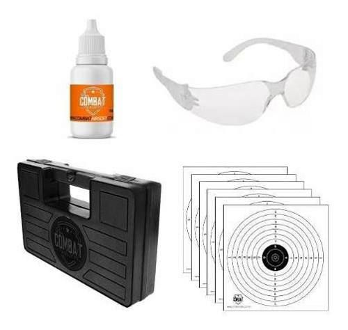 Combo Oculos Acrilico + Silicone + 6 Alvos + Maleta