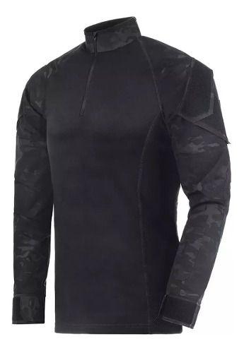 Camisa Tática Invictus Operator Multicam Black
