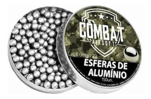 Munição Airsoft Esferas de Alumínio Combat Airsoft 6mm 150un.