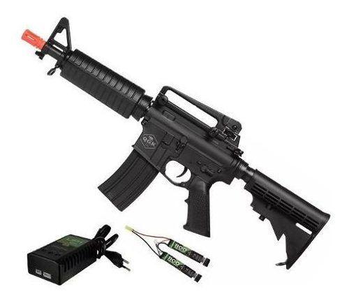Rifle De Airsoft Elétrico M4 Qgk Echo S-1 Aeg Bivolt Cqb Ras