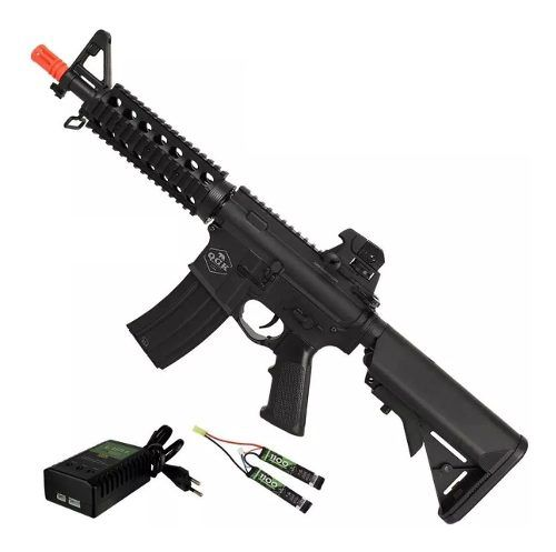 Rifle De Airsoft Elétrico M4 Qgk Zulu S-1 Aeg Bivolt Cqb