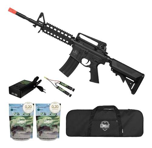 Rifle De Airsoft Elétrico M4 Qgk Yankee S-1 Aeg Bivolt + Capa + 8000 BBs 0,20g