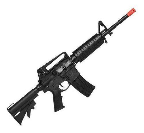 Rifle De Airsoft Elétrico M4 Qgk Mike S-1 Aeg Bivolt Ras