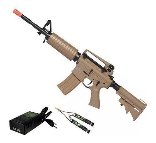 Rifle De Airsoft Elétrico M4 Qgk Mike S-2 Aeg Bivolt Ras