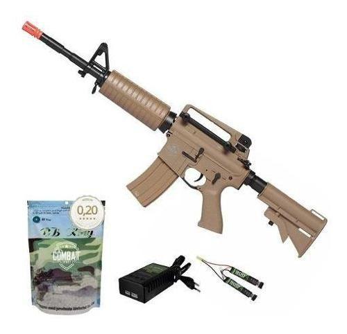 Rifle De Airsoft Elétrico M4 Qgk Mike S-2 Aeg Bivolt Ras + 4000 BBs 0,20g
