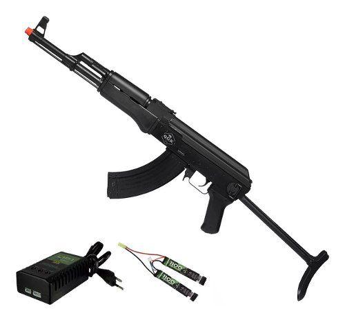 Rifle Airsoft Elétrico Ak47 Victor Tactical Qgk Aeg Bivolt