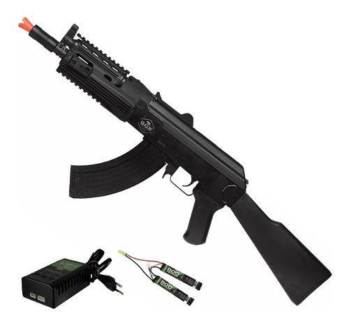Rifle De Airsoft Elétrico Ak47 Sierra Ris Qgk Aeg Bivolt