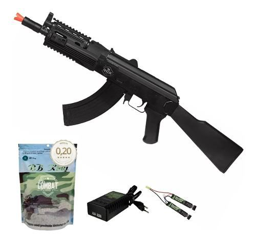 Rifle De Airsoft Elétrico Ak47 Sierra Ris Qgk Aeg Bivolt + 4000 BBs 0,20g