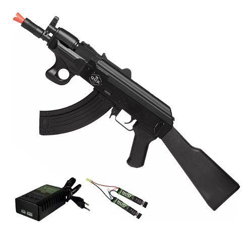Rifle De Airsoft Elétrico Ak47 Alfa Qgk Aeg Bivolt