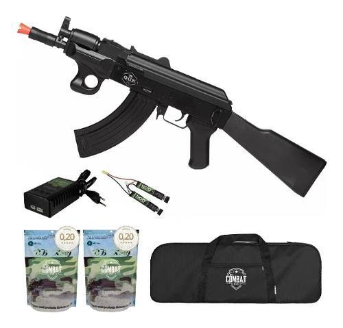 Rifle De Airsoft Elétrico Ak47 Alfa Qgk Aeg Bivolt + Capa + 8000 BBs 0,20g