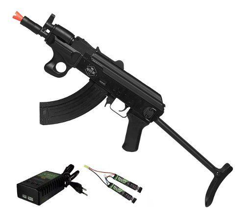 Rifle De Airsoft Elétrico Ak47 Alfa Tactical Qgk Aeg Bivolt