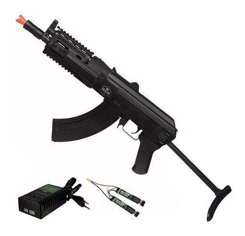 Rifle de Airsoft Elétrico Ak47 Sierra Tactical Ris Qgk Aeg Bivolt