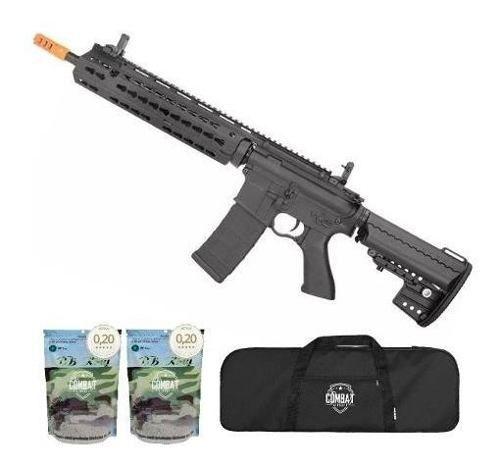 Rifle Airsoft Cyma M4 Long Keymod CM619 Bivolt 6.0mm Cyma + Capa + 8000 BBs 0,20g