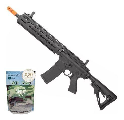 Rifle De Airsoft Cyma M4 Long Keymod CM619A Bivolt Cal 6.0mm + 4000 BBs 0,20g