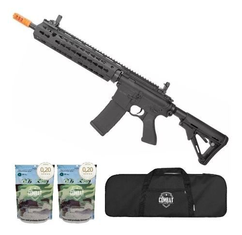 Rifle De Airsoft Cyma M4 Long Keymod CM619A Bivolt Cal 6.0mm + Capa + 8000 BBs 0,20g