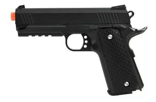 Pistola Airsoft Spring 1911 Warrior Galaxy G25 Full Metal Black Mostruário