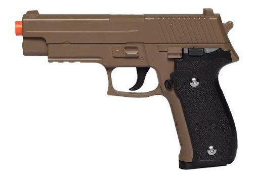 Pistola Airsoft Spring G26 Sig Sauer P226 Desert Tan Full Metal