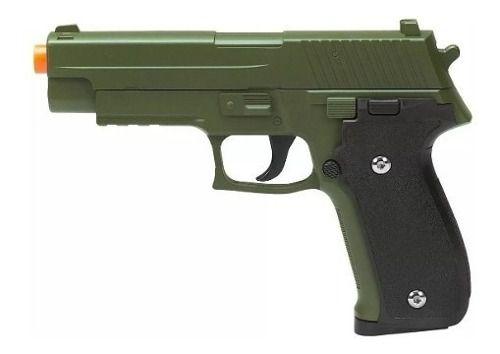 Pistola Airsoft Spring G26 Sig Sauer P226 Verde Oliva Full Metal