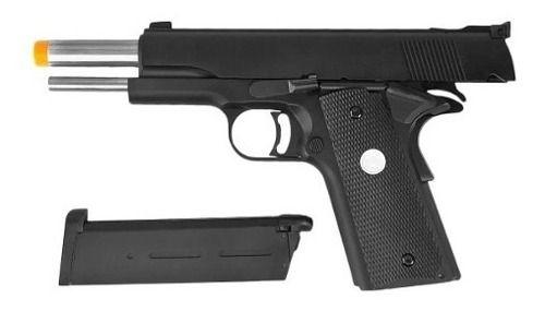 Pistola Airsoft Gbb 1911 Mkiv70 Black Full Metal R29-BK 6mm