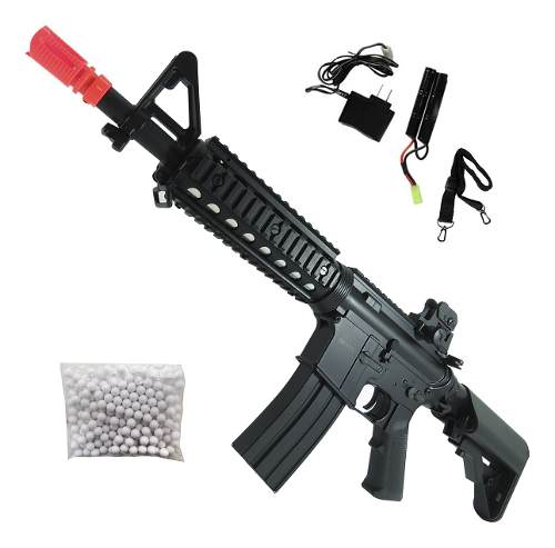 Rifle Airsoft M4 CM506s CQB 400fps Gatilho Eletrônico Mosfet Bivolt 6mm - CYMA
