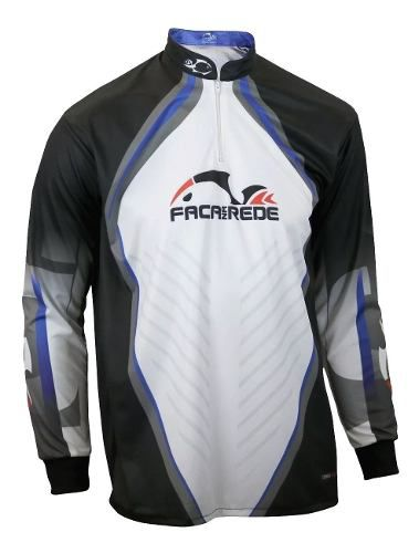 Camiseta De Pesca UV Faca Na Rede Combat S 19 Logo