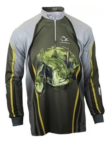 Camiseta De Pesca UV Faca Na Rede Combat S 19 Tambaqui