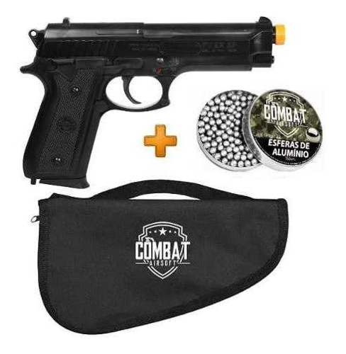 Pistola Airsoft Cybergun PT92 + Capa + Esferas Alumínio