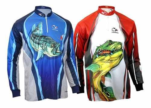 2 Camisetas De Pesca UV Faca Na Rede Combat S 19 A Escolher