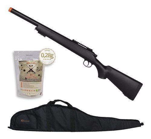 Rifle Fuzil Sniper Airsoft M52 400 FPS + Capa + 2500 BBs 0,28g