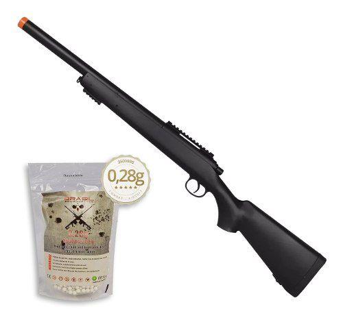 Rifle Fuzil Sniper Airsoft M52 400 FPS + 2500 BBs 0,28g