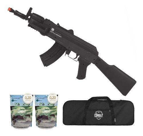 Rifle Airsoft Spring Ak47 Spetsnaz Cybergun + Capa +8000 Bbs