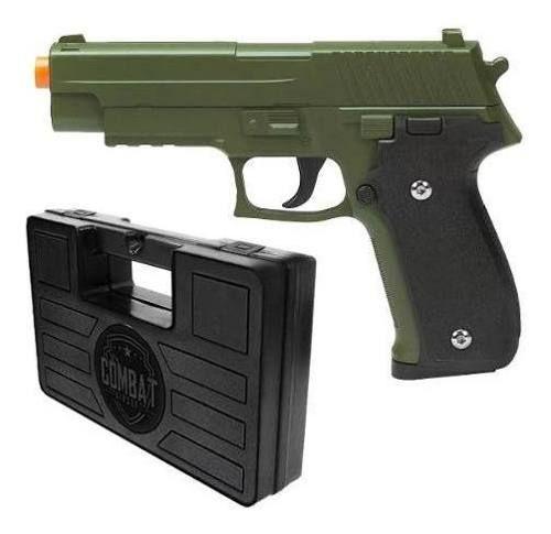 Pistola Airsoft Spring G26 Sig Sauer P226 Verde Oliva Full Metal + Maleta