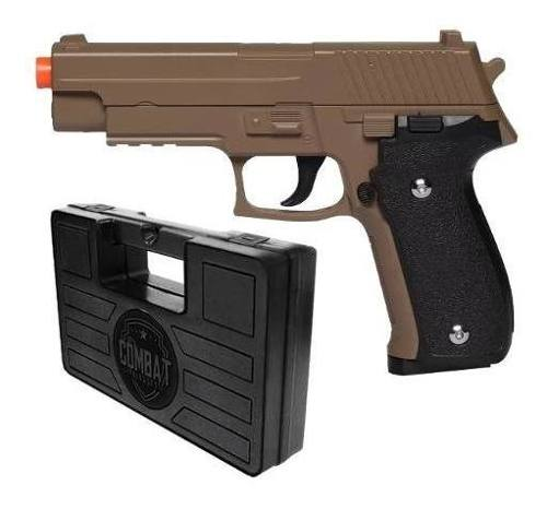 Pistola Airsoft Spring G26 Sig Sauer P226 Desert Tan Full Metal + Maleta