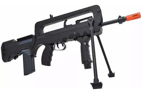 Rifle Airsoft Elétrico Famas F1 Semi-metal 220v 361 Fps 6mm