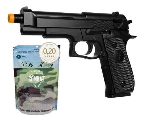 Pistola Airsoft Spring Skyway Saigo 92 Beretta M92 + 4000 BBs