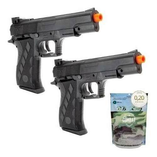 2 Pistolas Airsoft Spring 1911SW Vigor Colt 1911 + 4000 Bbs