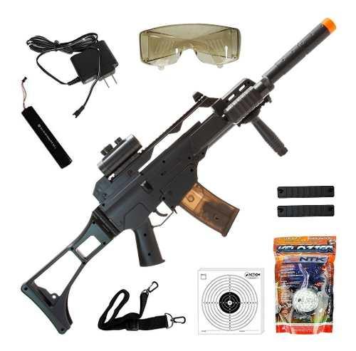 Rifle De Airsoft Elétrico Cyma G36 Cm021 Bivolt 6mm + Bbs 0.12g + Alvos