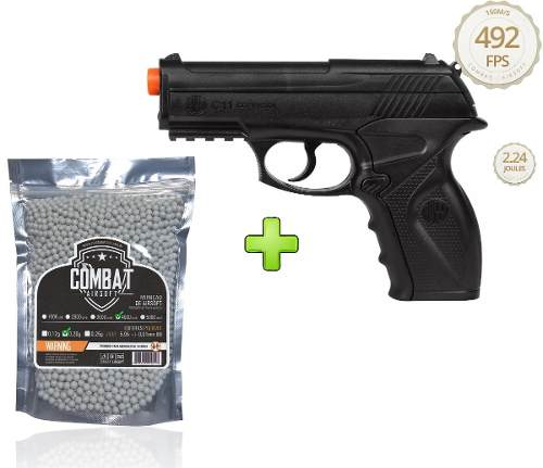 Pistola de Airsoft Wingun C11 6mm CO2 492 FPS + 4000 BBs