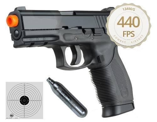 Kit Pistola Airsoft Co2 Kwc 24/7 Polímero + 10 Cilindros + Bb's