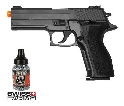 Kit Pistola De Pressão Sig Sauer P226 Metal 4,5mm + 1500 Esferas