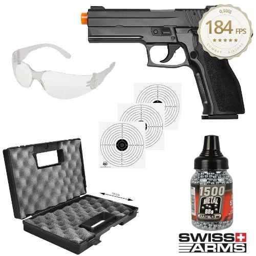 Kit Pistola De Pressão Sig Sauer P226 Metal 4,5mm + Acessórios