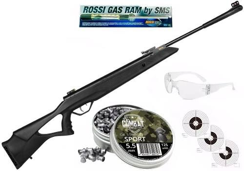 Carabina De Pressão Rossi SAG R1000 5,5mm Gás Ram 60kg + Chumbo