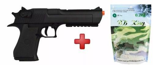 Pistola Airsoft Elétrica Cyma Desert Eagle CM121 + 4000un Bbs 0.20g
