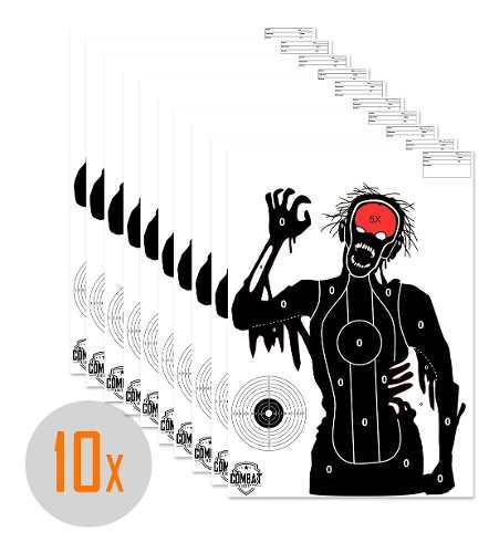 Pack 10 Alvos Silhueta Tiro Papel 42x59 Tema Zombie 1