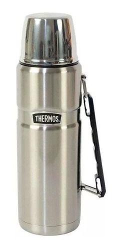 Garrafa Térmica Thermos Pampas 1,2 L Prata 24h Quente/Frio