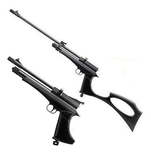 Carabina Pistola Híbrida Pressão Co2 QGK Cobra Black 5.5mm