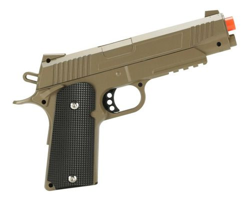Pistola Airsoft Spring 1911 Galaxy G.38D Full Metal Desert